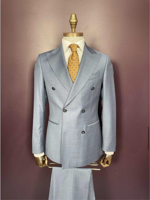 Euroboutique-Rx-Light Grey double breasted suit